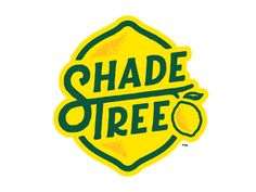 Shade Tree Lemonade logo design by Greg Anthony Thomas for Creative Typography, Typography Design, Brand Packaging, Packaging Design, Label Design, Identity Design, Graphic Design Inspiration, Logo Branding, Words