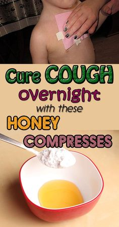 Home Remedies These honey compresses are perfect for you because you can get rid of strong coughs in just one night. - The latest in organic living with tips and info on food, gardening, natural remedies, and keeping your home free of harmful toxins. Cough Remedies For Kids, Home Remedy For Cough, Toddler Cough Remedies Night, Bronchitis Remedies, Croup, Natural Home Remedies, Herbal Remedies, Natural Remedies, Home Remedies