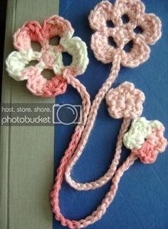 Cherry Blossom Bookmark (an easy crocheted bookmark): polycraftual — LiveJournal Knitting ProjectsCrochet For BeginnersCrochet PatronesCrochet Stitches Crochet Flower Patterns, Crochet Flowers, Crochet Gifts, Crochet Yarn, Crochet Ripple, Yarn Projects, Crochet Projects, Easy Crochet Bookmarks, Crochet Bookmark Patterns Free