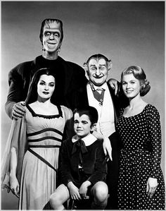 The Munsters is a 1960's American family television sitcom depicting the home life of a family of monsters. It starred Fred Gwynne as Herman Munster, Yvonne DeCarlo as his wife, Lily Dracula Munster and Butch Patrick as their son Edward Wolfgang Munster better known as Eddie.  It also starred Al Lewis as Count Sam Dracula, Lily's father popularly known as Grandpa Munster and Pat Priest as Marilyn Munster or as Eddie referred to her as Aunt Marilyn. (To read more click image)