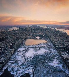 Central Park in the winter by @bobo