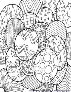 Free Easter Egg Coloring Page From Doodle Art Alley @ Blissful Roots Make your world more colorful with free printable coloring pages from italks. Our free coloring pages for adults and kids. Easter Egg Coloring Pages, Spring Coloring Pages, Online Coloring Pages, Coloring Book Pages, Coloring Pages For Kids, Coloring Sheets, Doodle Coloring, Easter Coloring Pages Printable, Kids Coloring