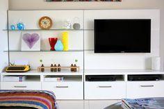Olivia and Ivy - Ikea Besta tv unit / bookshelf