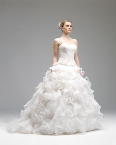 Honorable Ball Gown Halter/Spaghetti Straps Ruching Lace Organza Sweep/brush Train Wedding Dresses