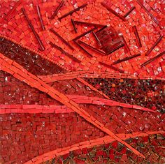 Kathy Thaden - Dimensional red mosaic.