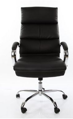 VECELO Racing Swivel Leather Office Chair / Computer Chair Desk Chair, Black