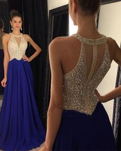 Cheap dress cat, Buy Quality gown store directly from China gown prom dress Suppliers: A line Prom Dresses 2016 Chiffon Halter Crystal Beaded Formal Evening Dress Long Party Gowns vestidos de baile Royal Blue Prom Dresses, Best Prom Dresses, Homecoming Dresses, Dresses 2016, Bridesmaid Dresses, Pageant Dresses For Teens, Gowns 2017, Blue Dresses, Dress Blues