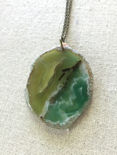 A personal favorite from my Etsy shop https://www.etsy.com/listing/292587203/hand-drilled-chartreuse-and-teal-agate