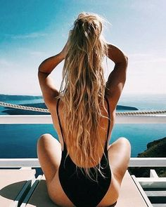 Black Backless One-Piece Swimsuits