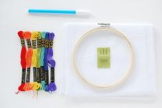 Embroidery Projects The Ultimate Embroidery Quick-Start Guide - Learn how to embroider without becoming overwhelmed. You only need minimal supplies and a few basic techniques to get started! Machine Embroidery Thread, Learn Embroidery, Hand Embroidery Stitches, Embroidery Fabric, Embroidery Techniques, Cross Stitch Embroidery, Portrait Embroidery, Beginner Embroidery, Embroidery Materials