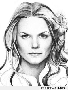 Jennifer Morrison drawing - OC