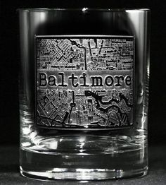 Custom City Map Rocks Glasses, Set of 2 by Crystal Imagery  on Scoutmob Shoppe