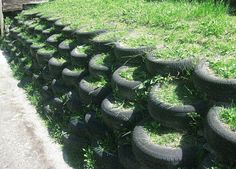 Discover thousands of images about Tire retaining wall. All it needs is some plants and it would look super