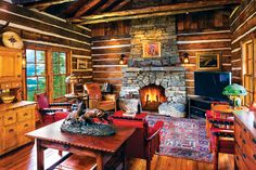 Montana's Western heritage comes back to life in a rustic four-cabin residential compound in Big Sky's Yellowstone Club.