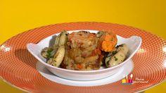 """Plat / Viande - Anne Alassane vous propose sa recette """"Cuisses de grenouilles à la provençale, pain de poule"""" inspirée de la recette de Mathilde """"Soupe de Langoustines et son risotto"""""""