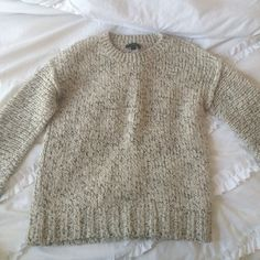 J.Crew Sweater Beautiful salt and pepper colored sweater from J.Crew! XS and only worn maybe five times J. Crew Sweaters Crew & Scoop Necks