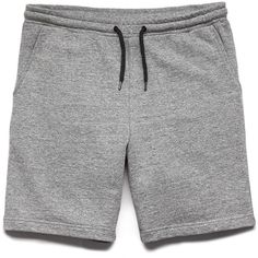 Forever 21 Men's  Cotton-Blend Drawstring Shorts ($15) ❤ liked on Polyvore featuring men's fashion, men's clothing, men's shorts, guys, mens shorts, mens elastic waist drawstring shorts, mens drawstring shorts, mens clothing and men's apparel