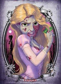 Zombie Rapunzel