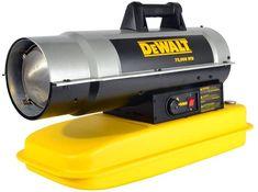 DeWalt F340675 DXH75KT Kerosene Heater, 75K BTU,Yellow Best Space Heater, Kerosene Heater, Safety Switch, Well Thought Out, Indoor, Yellow, Top, Interior, Crop Shirt