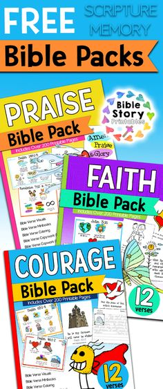 Free Bible Verse Printables for KidsFree printable Bible Verse Cards for Kids. These free printable sets include Bible Verse Coloring Pages, Bible Verse Worksheets, Bible Verse Visuals and copywork. Memory Verses For Kids, Bible Stories For Kids, Verses For Cards, Free Bible Study, Bible Study For Kids, Bible Lessons For Kids, Kids Bible, Preschool Bible Verses, Printable Bible Verses