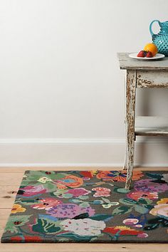 Gloria's Garden Rug, Rectangle #anthropologie - LOVE the colors!!! The review and size determined this is not for me.  :(