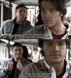So the Supernatural writers like to have fun once and a while…