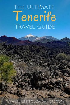 All you need to know for a memorable and active holiday in Tenerife (one of the Canary Islands in Spain) - must-see places, ideas for hiking, where to stay and more. Explore Teide national park, Chinyero Nature Reserve, Barranco del Infierno, dive underwater in a submarine... Read the post for details! #tenerife #canaryislands #tenerifetravelguide
