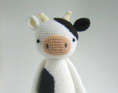 Crochet Amigurumi Pattern - Cow