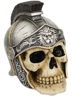 """""""Roman Warrior"""" Skull by Pacific Trading"""