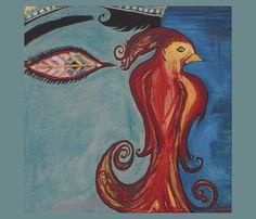 The Firebird Fat Quarter Panel fabric by spatialh on Spoonflower - custom fabric