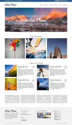 Virtue (responsive, Shop, gallery, blog, splash page)