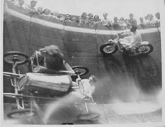 Indian Wall of Death. Was very popular in the 1930's.