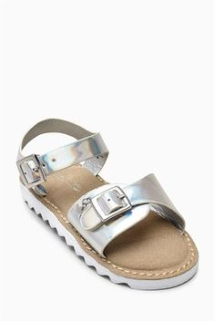 Buy Silver Sporty Sandals (Younger Girls) from the Next UK online shop