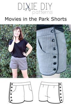 In my quest for handmade shorts, I'll happily wear out-and-about, I've rounded up a list of DIY shorts patterns and tutorials. Diy Clothing, Sewing Clothes, Clothing Patterns, Sewing Patterns, Diy Sewing Projects, Sewing Projects For Beginners, Sewing Tutorials, Sewing Tips, Shorts Diy