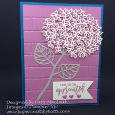 Papercrafts by Patti, Beautiful Branches Thinlits, Big Shot, Brick Wall TIEF, PPA, SUO, Thank You Card, Thoughtful Branches
