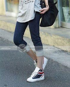 Doclin™ Fashion Casual Low Rise Elastic Waist Cropped Denim Women Pants