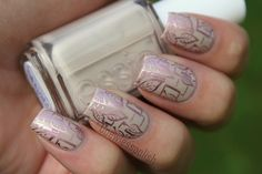 Delicate Stamping #nails
