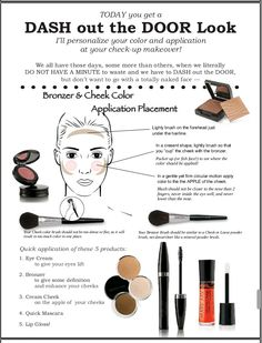 In a hurry? Get your customized Dash out the door look today. Contact me @  www.marykay.com/brennastewart