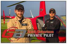 Caleb Robertson is a Private Pilot Helicopters! Congrats Caleb…