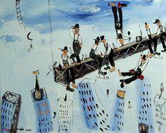 """Dariusz Grajek """"Manhattan"""" / kontakt w sprawie dzieła biuro@dnagallery.pl"""