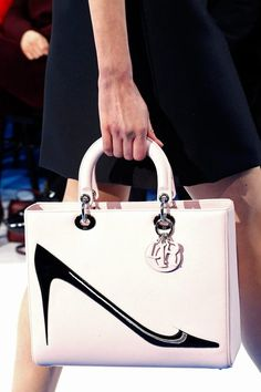 Fall 2013 Christian Dior...my favorites... shoes on a bag!