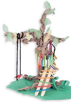 Historically the clans of New Guinea live in tree houses. Encourage students to make their own.