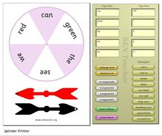 Make your own printable spinners link from this blog to the website. P.S. - this blog is AWESOME.
