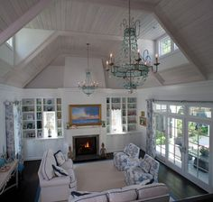 Would make a nice family room. Beadboard Ceiling Design Ideas, Pictures, Remodel, and Decor - page 13