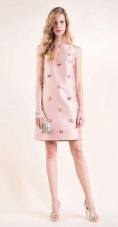 Abiti da cerimonia Luisa Spagnoli collezione 2016 - Abito rosa in satin