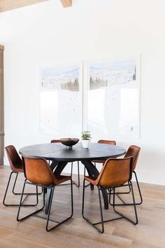 Modern Dining Room Chairs That Will Change Your Home Decor Dining Room Design, Dining Area, Dining Tables, Design Kitchen, Farm Tables, Wood Tables, Rustic Table, Side Tables, Side Chairs