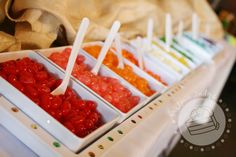 Jelly bean buffet...cute idea for a wedding favor candy buffet, or any type of shower.