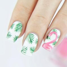 Nails ideas :winning nail art tutorial for summer-nail art designs Pineapple Nail Design, Pineapple Nails, Cute Nail Designs, Acrylic Nail Designs, Acrylic Nails, Essie, Flamingo Nails, Nailed It, Best Nail Salon