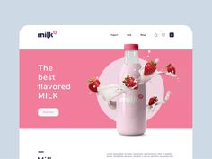 daily 040 by Bruno Vasconcelos on Dribbble Web Design Trends, Web Design Inspiration, Design Ideas, Juice Packaging, Milk Shop, Catalog Design, Creative Advertising, Graphic Design Posters, Layout Template