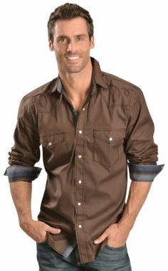 Red Ranch Tonal Embroidery Yokes Western Shirt - Sheplers